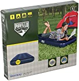 Pavillo Junior Twin Airbed Quick Inflation Outdoor Air Mattress with AC Air Pump, Hammer Pump and Travel Bag, Blue, Single