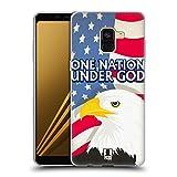 Head Case Designs One Nation Under God American Pride Soft Gel Hülle für Samsung Galaxy A8 (2018)