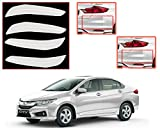 #9: Auto Pearl - Premium Quality Car Color Bumper Protector for - Honda City Idtec - Tafera White