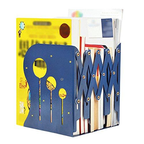 BXT Creative Home Office Stationery Roll-Heavy Duty rutschfeste Buchstützen Desktop Aufbewahrungsbox Organizer Stehsammler Halter Schreibtisch Tidy Bücherregal blau (Blau Bücherregal)