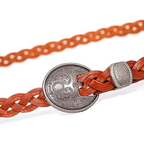 Cintura in pelle di moda/Cintura intrecciata a mano/Cinture casuale