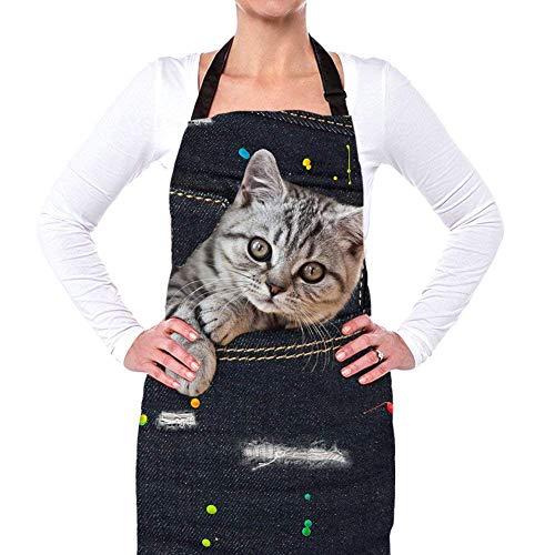 Nopersonality Verstellbare Jeans für Hunde und Katzen, Jeans, Vintage-Stil, für Damen und Herren, Baumwolle, Denim Pet8, M
