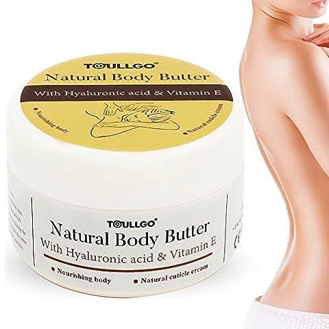 Körperbutter, Körper Feuchtigkeitscreme, Body Butter, Körpercreme für Trockene Haut, versorgt Sie mit einer reichhaltigen und langanhaltenden Hydration, 100ml