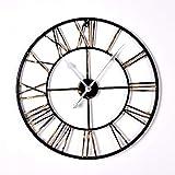 QFGHJ Moderne Minimalistische hölzerne Uhr American Silent Frameless Kreative Wand hängenden Quarzuhr