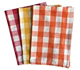 #3: Lushomes Multi Color Yarn Dyed Kitchen Towels (Set of 3)