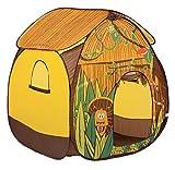 LUDI - Tente pop-up 'Jungle'110 x 110 x 140 cm. Dès 2 ans. Décor pour jouer à l'aventurier. Se plie et se range dans un sac. Tissu résistant pour une utilisation en intérieur et en extérieur - 5203
