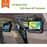 TFY Car Headrest Mount for Swivel Screen Portable DVD Player - 2 Pieces