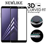 #9: [PACK OF 1]Samsung Galaxy A8 Plus 3D Tempered, Full Tempered Glass For Samsung Galaxy A8 Plus - Black