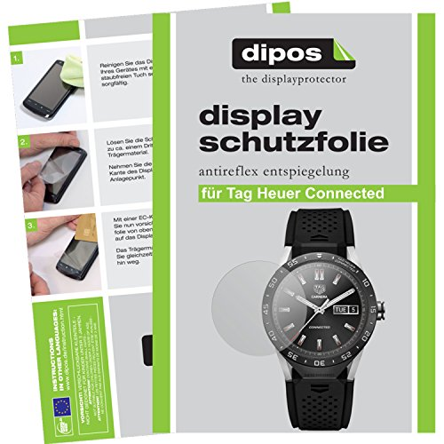 dipos I 6X Schutzfolie matt passend für Tag Heuer Connected Folie Bildschirmschutzfolie
