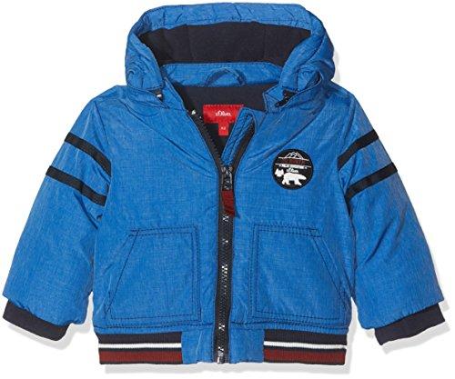 s.Oliver Baby-Jungen Jacke 59709512438 Blau (Blue Melange 55W6), 74 (Baby Kinder Jacke)