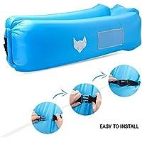 IceFox Sofa-5 Luftsofa, Wasserdichtes Air Lounger mit Tragebeutel, zum Schlafen im Freien, im Innenbereich, zum Zurücklehnen und Entspannen, Aufblasbarer Sitzsack für Camping den Strand  zum Fis, Nylon, 12,