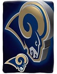"St. Louis Rams NFL Micro Raschel Blanket (Bevel Series) (80x60"")"""