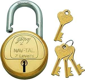 Godrej Nav-Tal 7 Levers 4 Keys Padlock with Scissor