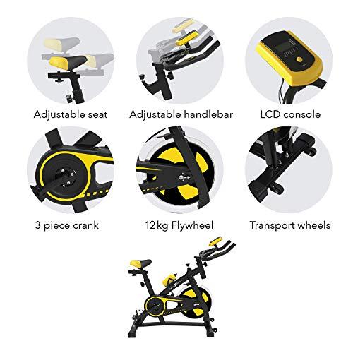 51T2ZMi8EAL. SS500  - Nero Sports Upright Exercise Bike Indoor Studio Cycles Aerobic Training Fitness Cardio Bike