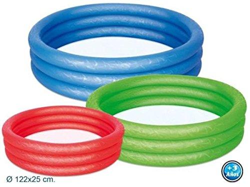 Intex Kinderpool Summer Colors Pool, Mehrfarbig, 185 x 180 x 53 cm 56495NP