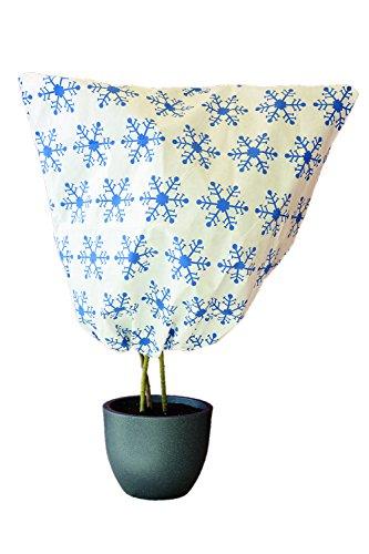 Campana–planta de invierno con cremallera y cordón–Diseño: Nieve Cristal Diámetro 16cm–B: 110cm...
