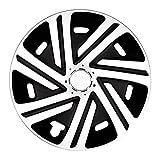 (Größe wählbar!) Radzierblenden 15 Zoll – CYRKON (Schwarz-Weiß) passend für fast alle Fahrzeugtypen (universal)