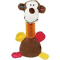 Tacobear Juguete para Perros Dientes de Limpieza de Juguete de Perro Masticar Juguete de Felpa Monkey Squeaky Toy para Grandes a pequeños Perros