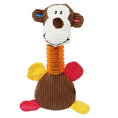 Tacobear Giocattolo per Cani Masticare Giocattolo Denti di Pulizia del Giocattolo del Cane Giocattolo Scimmia Peluche di Peluche per Cuccioli, Cani Piccoli e Medi