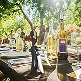 XREXS Vertikaler Hebel Korkenzieher Kaninchen Stil Korkenzieher Set 5 in 1 Flaschenöffner Manuell, Weinöffner mit Folienschneider,Vakuumstopper, Weinausgießer FDA Genehmigt - 7