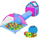 TecTake Tienda infantil en forma de iglú con túnel + 200 bolas + bolsa