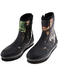 Sharplace Chaussures de Pêche Chaussures Anti-dérapant Imperméable Bottes de Pêche - Rouge, M