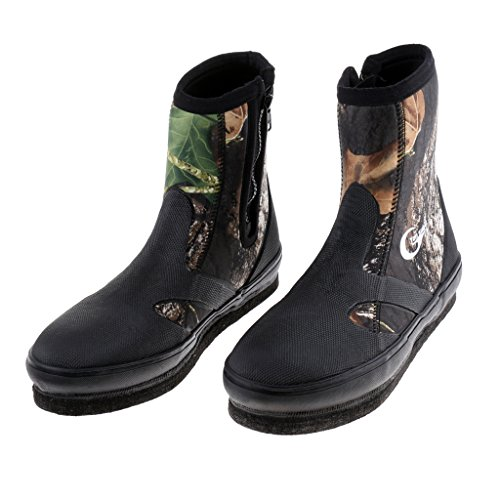 Baoblaze Unisex-Erwachsene Stiefel Neopren-Gummistiefel - Camouflage 8