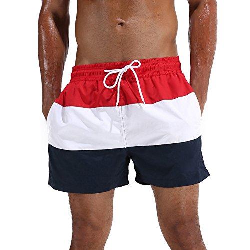 Arcweg Bañador Hombre Chico Playa Poliéster Pantalon Corto Hombre Deporte Secado Rápido Bañadores...