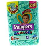 8 x Pampers Baby Dry downcount Junior Taille 5 11 – 25 kg 17 pièces