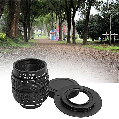 ryadia (TM) 35mm F1.7C Mount C-Mount obiettivo per CCTV c-m43Micro