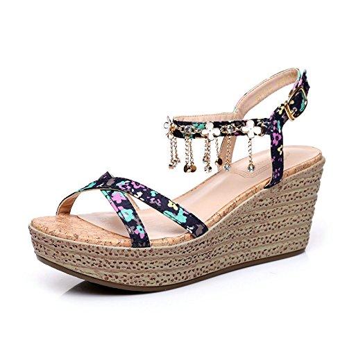 keil sandalen im sommer weibliche hochhackige schuhe dicke wasserdichte schuhe taiwan diamond die schuhe lieber...
