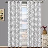Meridian plata ojal apagón cortina de ventana de cortinas, par/Set de 2paneles, 52x 108cm cada uno, por Royal Hotel