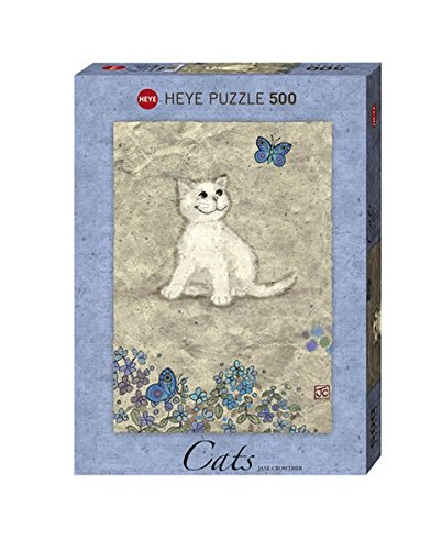 Heye 29626 - Jane Crowther, Cats White Kitty, 500 Teile Standardpuzzle