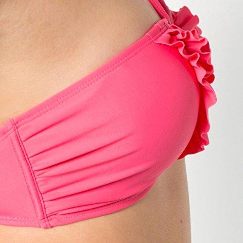 R Edition Frau Bikini Mit Ruschen Pink