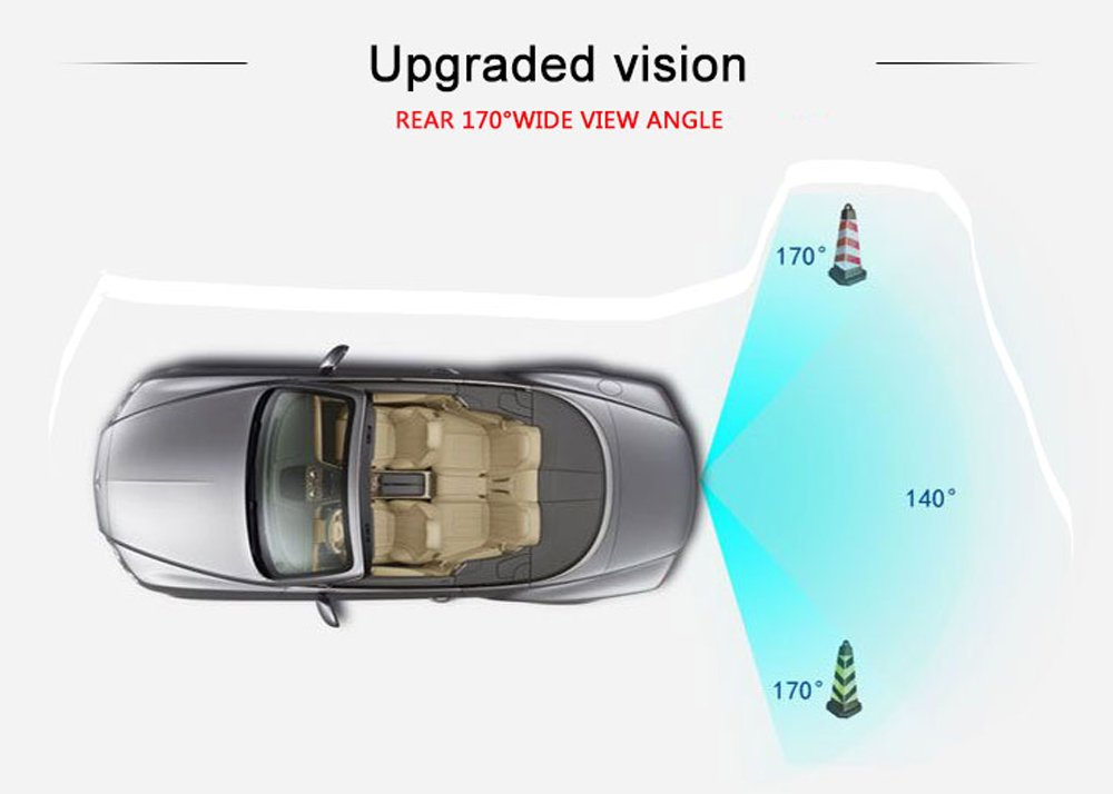 Kalakass-Rckfahrkamera-mit-Einparkhilfe-fr-VW-Touran-Passat-Jetta-Caddy-Golf-Plus-Multivan-T5-Transporter-Superb