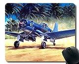 Yanteng Tappetino per Mouse con Bordi cuciti, Mouse Vought F4U Corsair Warplane