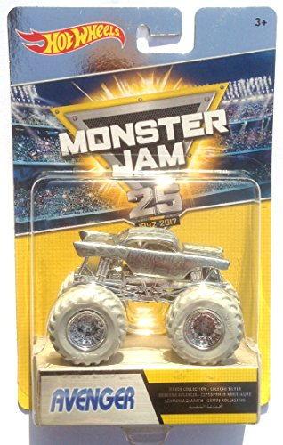 Hot Wheels Monster Jam - DWP02 AVENGER - edición plateada '25 years 1992-2017'