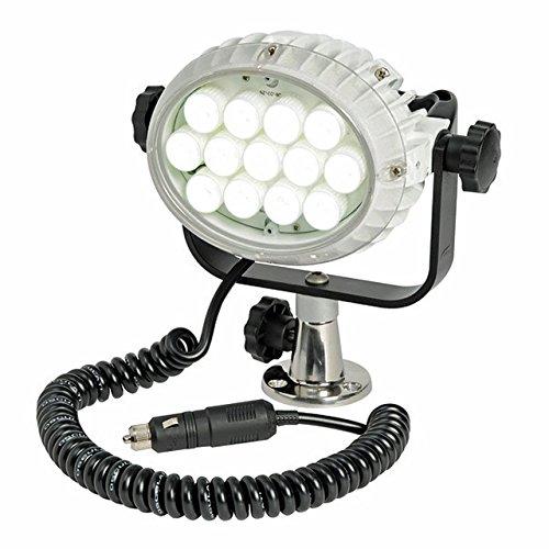 Osculati LED Suchscheinwerfer Night Eye 12 Volt 100 + 100 W inkl. Halteplatte zur Tischmontage