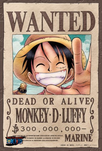 One Piece Monkey D. Luffy Wanted Poster Puzzle 150 Piece by ensky by ensky