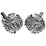 Sterling Silver Thistle, The Emblem Of Scotland, Cufflinks