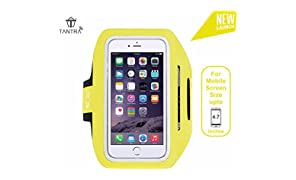 Tantra Enhandz Arm Band Adjustable Sports Anti-slip Ultra Light Weight Armband Mobile Holder upto 4.7 inches like iphone 4,5,6 & 6s) (Yellow, M Size)