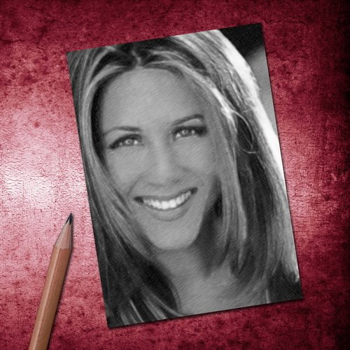 Seasons JENNIFER ANISTON - ACEO Sketch Card (Signed by the Artist) #js006