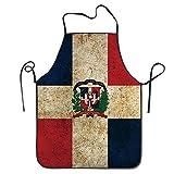 Luminoso uomini e donne bandiera della Repubblica Dominicana retro chef & Cook cucina bavaglino grembiule impermeabile ideale per cottura, forno, fai da te, BBQ