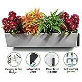 Jardinera vertical autorriego | Soporte de plantas montado en la pared | Macetero colgante para interiores y exteriores