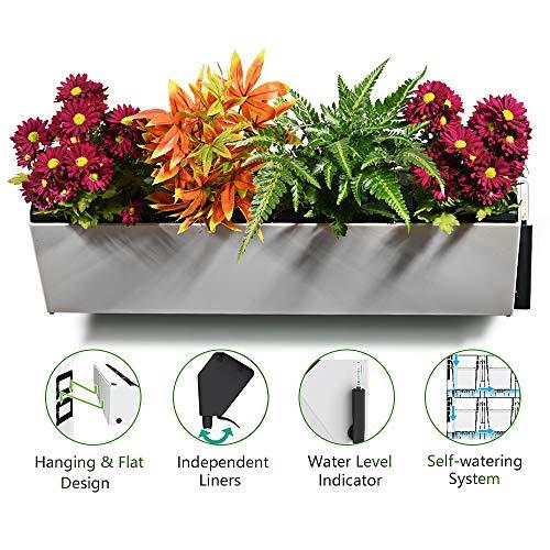 Green sun - giardino verticale autoirrigante, supporto di rimboschimento da parete, fioriera da appendere con 4vasature