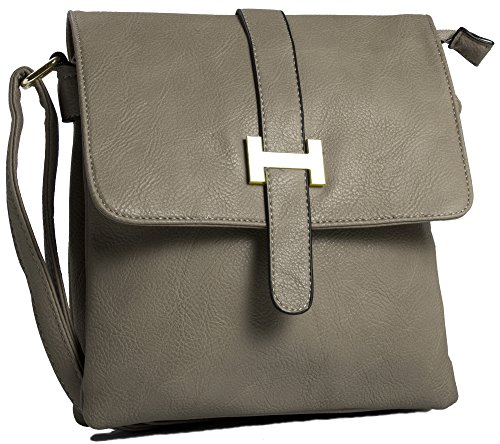 Big Handbag Shop, Borsa a spalla uomo One Dark Taupe