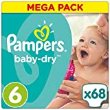 Pampers - Baby Dry - Couches Taille 6 (+15 kg/XL) - Mega Pack (x68 couches)