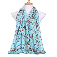 Clearance! MILL.GD88 Scarf for Women丨 Winter Women Lady Warm Fashion Birds Trees Pattern Scarf Wrap Shawl⭐⭐⭐⭐⭐