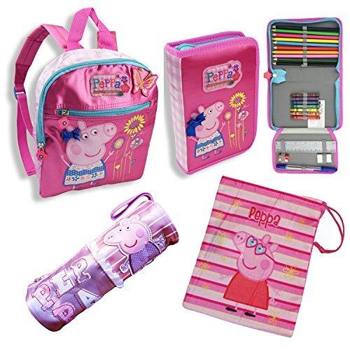 peppa-wutz-4er-set-rucksack-turnbeutel-gefulltes-federmappchen-schlamperrolle-rosa