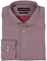 JACQUES BRITT Herren Hemd John Brown Label Custom Fit 233260-048 rot kariert/gemustert Größen: 40 41 43 44